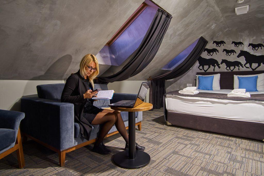 Интерьер отеля в стиле лофт - Москва